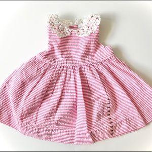 Ralph Lauren Girl 3 month Pink Dress Lace Collar